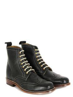 Grenson Ella Black Grain Boots from Coggles.