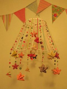 Lampshade skeleton mobile-adorable in a nursery!