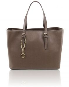 TL BAG TL141224 Saffiano leather shopping bag with two handles