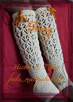 192 Calecetones sin dedos / Toeless.  Calcetones Sin DedosTejidos a Crochet / Crochet Toeless  https://www.facebook.com/Ferny.HechoAMano/photos/pb.269222416525542.-2207520000.1423066866./684100995037680/?type=3&theater
