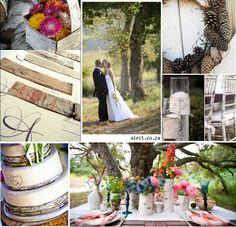 Stylish Nestling: Chic Budget Birch Wedding