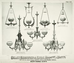 Oxley Giddings & Enos catalog cut with gas fixtures Victorian Lighting, Victorian Lamps, Victorian Interiors, Victorian Furniture, Antique Lighting, Real Good Toys, Gas Lights, Vintage Interior Design, Aesthetic Movement