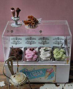 Miniature ice cream stand.