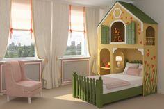Princess castle bed, castle bed, carrage bed, custom made bed, Girls Bunk Beds, Kid Beds, Girls Bedroom, Childs Bedroom, Pink Bedrooms, Whimsical Bedroom, Attic Bedroom Designs, Bedroom Ideas, Castle Bed