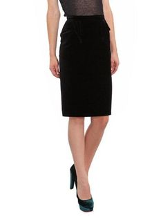 Givenchy Velvet Pencil Skirt