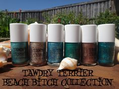 @TawdryTerrier Beach Bitch collection -  available at https://www.etsy.com/shop/TawdryTerrier #nailpolish #indienailpolish #tawdryterrier