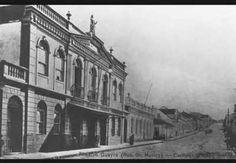 Antigo Teatro Guaíra na década de 1910 na Rua Dr. Muricy em Curitiba.
