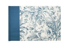 Guestbook Classic  Blue TOILE de JOUY by WolfiesBindery on Etsy