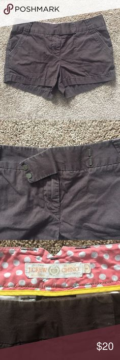 J. Crew Brown Chino Shorts Used condition with no major signs of wear, rips or stains. Great staple piece for your summer wardrobe. Make me an offer! J. Crew Shorts