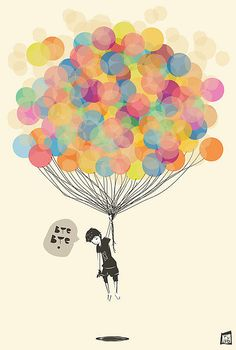 Imagining some art similar to this that I want to do ... adore the balloons!