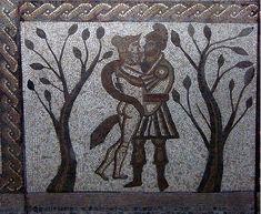 Roman Mosaic. Aeneas and Dido. Low Ham. England.