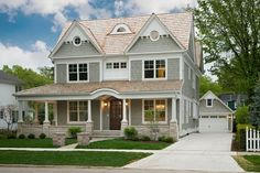 House exterior... like the detached garage and giant porch