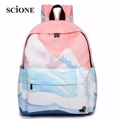 14.52$  Know more - 2017 rucksack mochila couple embroidered travel backpacks korean harajuku bags landscape school bags for teenager girls ZZ149   #aliexpressideas