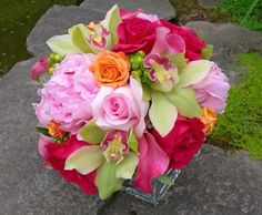 Peony Wedding Bouquet | Pink Peony and Rose with Green Wedding Bouquet