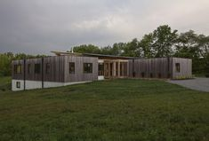 Copperwood house by HAUS Architects in Indiana, with thermally modified exterior cladding. Prefabricated Structures, Stair Walls, Passive Solar, Exterior Cladding, Commercial Architecture, Built Environment, Green Building, Outdoor Entertaining, Outdoor Structures