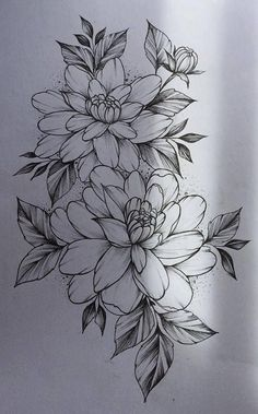 Flower Drawing 52 Beautiful Ideas Flower Tattoos - One of the most marvelous creations on the planet are flowers and we can see why because they are absolutely gorgeous. Flowers are a great element that makes for an amazing tattoo. Neue Tattoos, Body Art Tattoos, Sleeve Tattoos, Tatoos, Trendy Tattoos, Small Tattoos, Tattoos For Women, Flower Tattoo Designs, Flower Designs