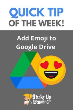 Here are some quick tips to learn how to add emojis to Google Drive! Free Teaching Resources, Teacher Resources, Google Drive File, Google Tricks, Instructional Coaching, Mobile Learning, Educational Technology, Student Learning, Tech Logos