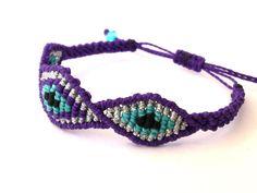 Macrame Bracelet/Evil Eye/Micromacrame Jewelry by MACRANI on Etsy