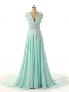 mint green prom dress ! love it #myfavroiteone !