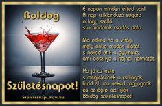 Koktél, idézetes születésnapi képeslap Alcoholic Drinks, Wine, Glass, Drinkware, Corning Glass, Liquor Drinks, Alcoholic Beverages, Liquor, Yuri