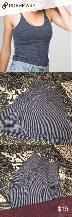 brandy melville blue and white striped tank nwot // racerback Brandy Melville Tops Tank Tops