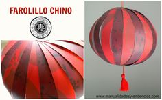 Tutorial farolillo chino rojo www.manualidadesytendencias.com #manualidadesconpapel #papercrafts #chineselantern Love Craft, Games For Kids, Origami, Marco Polo, Creative, Gifs, Club, Chinese Lanterns, Chinese New Year