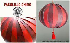 Tutorial farolillo chino rojo www.manualidadesytendencias.com #manualidadesconpapel #papercrafts #chineselantern
