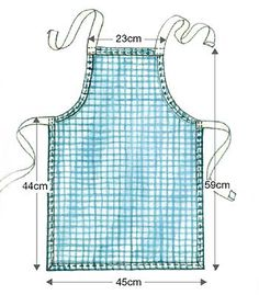 free child apron patterns for sewing | Feature: Kirsty Robertson. Photos: Richard Burns. Illustration: Terry ...