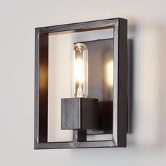Check out Modern Square Framed Sconce from Shades of Light