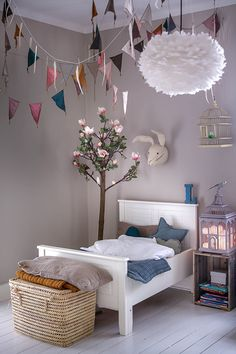 Spring mood heaven! Numero74 featured products: mix flashy bunting garland, Star & Heart cushions, Ice Blue Tatami, Gold Tatami, Beige Pillow Cover