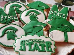 Michigan State Graduation Cookies