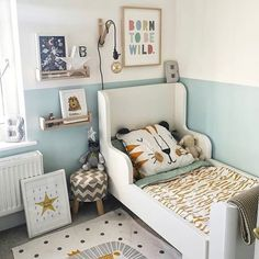Boy Toddler Bedroom, Toddler Room Decor, Toddler Rooms, Boys Room Decor, Nursery Decor, Kids Rooms, Ikea Toddler Bed, Ikea Kids Room, Ikea Boys Bedroom