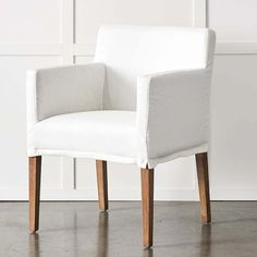 Slip Covered Dining Chairs, Linen Dining Chairs, Dining Chair Slipcovers, Dining Table Chairs, Tables, Cafe Chairs, Occasional Chairs, Home And Living, Furniture