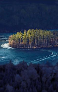 Frozen Lake Island - Alanko, Finland , from Iryna