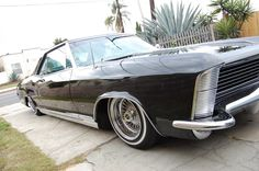 Nice look at the front of a 65 Buick Riviera, a car, I think, is one of the most beautiful of all time.