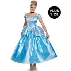 BuyCostumes.com Disney Princess Prestige Cinderella Plus Size Costume... ($110) ❤ liked on Polyvore featuring costumes, halloween costumes, plus size fairy costume, fairy godmother costume, fairy princess costumes, blue fairy costume and fairy costume
