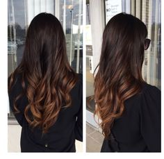 Ombre for brunettes . cabello ombre hair color for brunettes Ombre Hair Color For Brunettes, Brunette Ombre, Brown Ombre Hair, Brunette Color, Brunette Hair, Black Ombre, Hair Highlights, Color Highlights, Gorgeous Hair