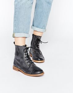 Image 1 of Park Lane Leather Worker Lace Up Ankle Boots