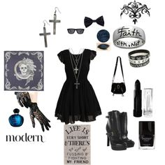 """""""Nu goth style"""" by sapphirevonraven on Polyvore"""