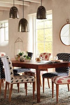 The Elza Ikat Dining Chair from our Spring House & Home collection.