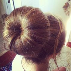 Try this hairstyle at home - casual sock bun
