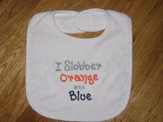 Auburn I Slobber Orange and Blue by alphabetsoupboutique on Etsy, $8.00