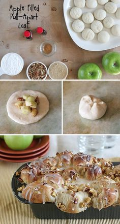 42 Mouthwatering Pull-Apart Recipes | Apple Filled Pull-Apart Loaf