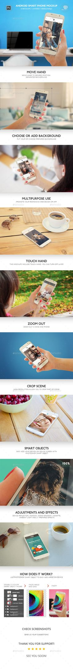 Android Smart Phone Mockup. Download here…