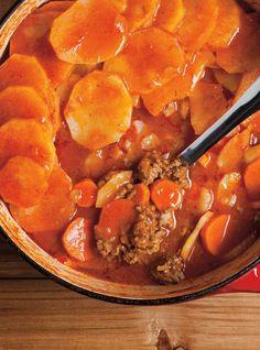 Recette de Ricardo de pâté chalet One Pot Meals, Kids Meals, Greek Potatoes, Ricardo Recipe, Confort Food, Food L, Salisbury Steak, Protein Foods, Easy Healthy Recipes
