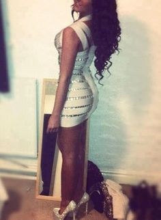 White and bling dress