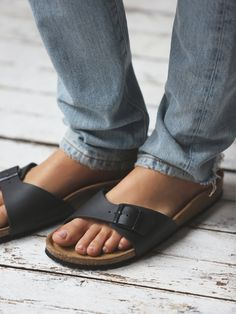 Jeans with Birkenstock Madrid Sandals