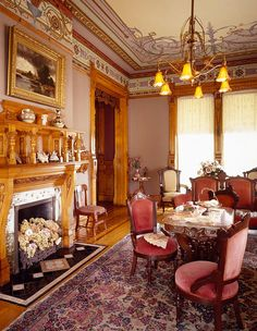 The Parlor of Hearthstone House in Appleton, WI....the first house in the world to be electrified by hydropower.