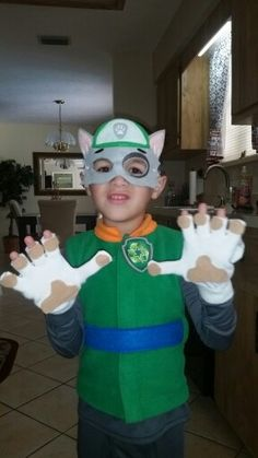 Boys paw patrol Rocky Costume