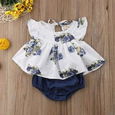 4c5591e498a8 7 Best 2019 Brand New Infant Newborn Baby Girls Ruffle Rompers One ...